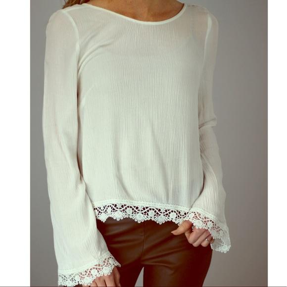 82c2bef650e8f8 H&M Tops | White Coachella Shirt | Poshmark